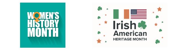 Women's History and Irish-American Heritage Banner